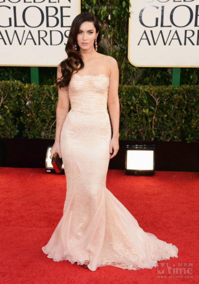 70th Golden Globe Awards Red Carpet Megan Fox Prom Dress Lace ...
