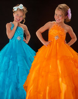 Lovely Orange One- Shoulder Flower Girl Dresses Girls' Formal...