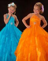 Lovely Orange One- Shoulder Flower Girl Dresses Girls' Formal...