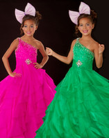 Lovely Green One- Shoulder Flower Girl Dresses Girls' Formal ...