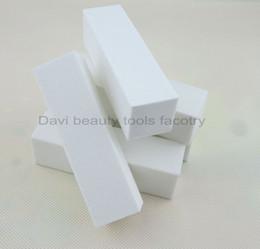 $enCountryForm.capitalKeyWord Canada - 20PCS LOT white nail buffer block sanding block file buffer acrylic nail tips for Nail Art Free shipping