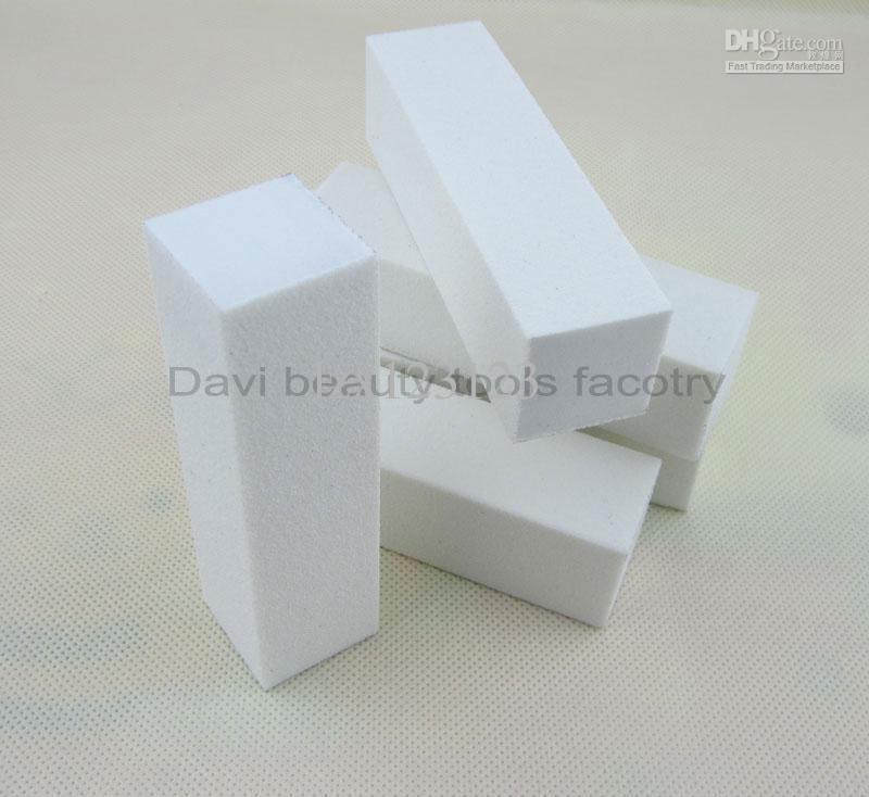 Punte acriliche bianche del chiodo dell'amplificatore del blocchetto di levigatura del blocchetto di buffer del chiodo / nail art Trasporto libero