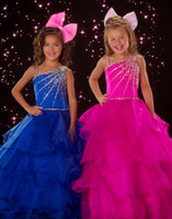 Lovely Fushcia Blue Layers Flower Girl Dresses Girls' Formal...