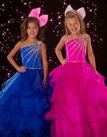 Lovely Fushcia Blue Layers Flower Girl Dresses Girls' Formal...