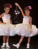 Lovely Pink& Blue& Yellow Flower Girl Dresses Girls' F...