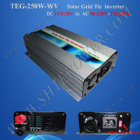 Wholesale Solar Power Grid Tied - 250w grid tie power inverter,DC 12V 24V 10.8V-30V to AC 220V,solar panels