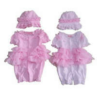 Wholesale Little Princess Baby One Piece - Children Outfits Kids Clothing Baby One-Piece A Little Princess (Romper+Cap) lovely infant Clothes