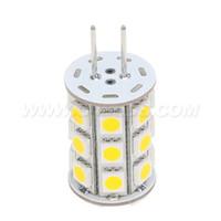 ampoule g6.35 achat en gros de-Led G6.35 2700K ampoule d'éclairage 12VAC / 12VDC / 24VDC 27LED de 5050SMD 4W pour remplacer l'halogène de 35W