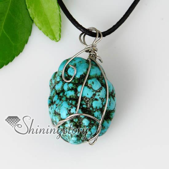 2013 new style semi precious stone turquoise stone pendants leather 2013 new style semi precious stone turquoise stone pendants leather necklaces jewelry semi precious stone cheap fashion jewelry stone pendants online with mozeypictures Images