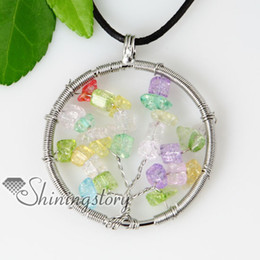 Wholesale Handmade Birthstone Necklaces - round oblong birthstone pendant necklace wholesale gemstone jewellery Fashion jewelry in bulk Spsp50046 handmade fashion jewellery