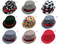 chapéu fedora bebê crianças venda por atacado-Tampas da forma do chapéu dos miúdos do bebê das crianças tampões da forma por atacado chapéu meninos grils chapéus chapéu do fedora