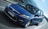 ford фокусные лампы оптовых-Новейшая версия светодиодные дневные ходовые огни DRL с противотуманной фары крышка, светодиодные противотуманные фары для Ford Focus 2007~2014, замена, бесплатная доставка
