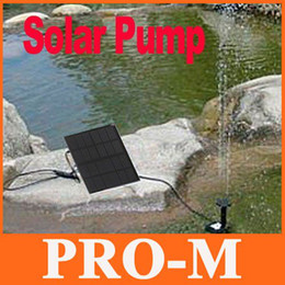 Wholesale Solar Brushless Water Pump Wholesale - Brushless Solar Pump For Water Cycle Pond Fountain Rockery Fountain, 5pcs lot,H4079, freeshipping