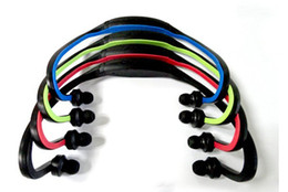 Wholesale Mp3 Player Digital Headphones - Wireless Sport MP3 Player Wrap Around Headphones Digital with TF Card 3 Colors Fee Shipping