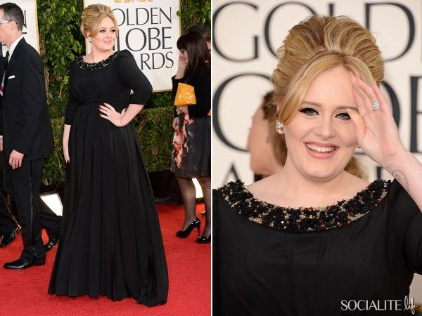 2013 70th Golden Carpet Globes Awards Adele Red Carpet