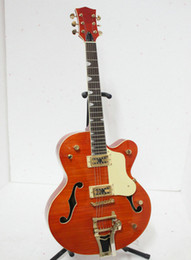JAZZ Semi Hollow Orange with China 일렉트릭 기타 무료 배송