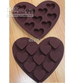 Love Heart Cake Candy Chocolate Decorating Ice Cube Tray Makers silicone Mold