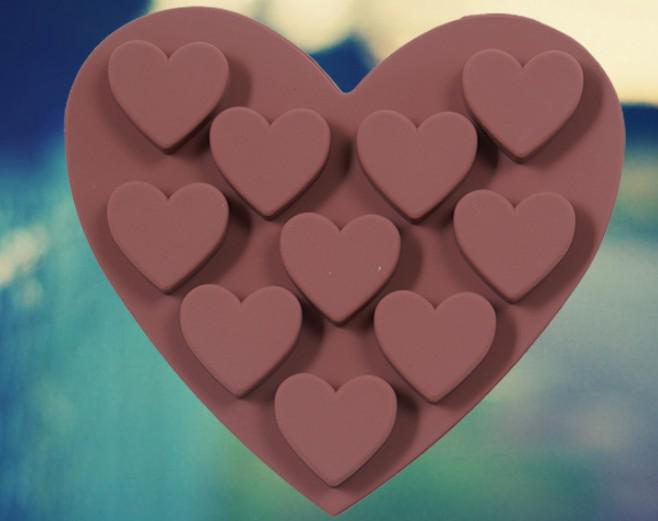 愛のハートケーキキャンディーチョコレートの飾るアイスキューブトレイメーカーシリコーンカビ