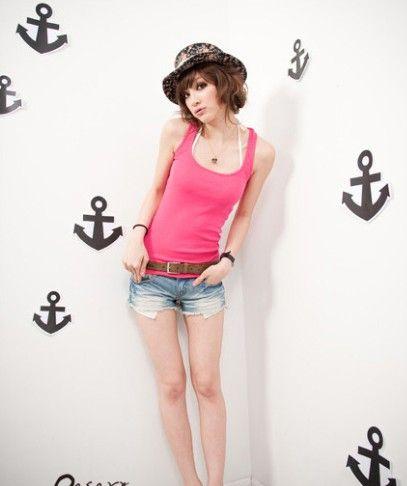 ファッションセクシーな女性の女の子ピュアベストタンクトップスTシャツカラフルなビーチ服シャツクリスマス美しいギフト