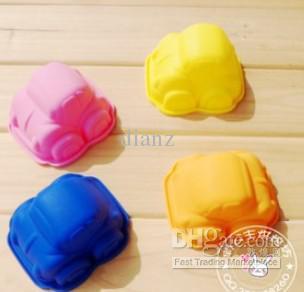 Härlig bilformar tårta mögel tvål mögel muffin fall för baby