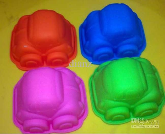 9,5 cm Kind Gunst Kleine Auto Vorm Siliconen Cakevorm Schimmel Muffin Gevallen voor Baby Shower
