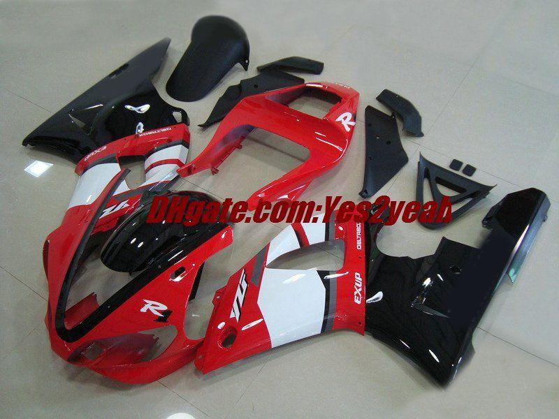 Motorfiets Fairing Body Kit voor Yamaha YZF R1 YZF-R1 2000 2001 Carrosserie YZF1000 YZFR1 00 01 Rood Wit Verklei Set