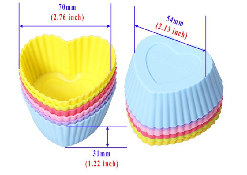 Pudding cup Silicone Cake Muffin Chocolate Cupcake Case Tin Liner Baking Cup Mold Mould Rose