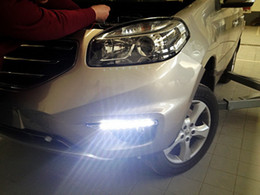 Instalação levou 12v on-line-Luzes de circulação diurna LED DRL LED nevoeiro lâmpada para Renault Koleos 2012 ~ ON substituição, instalação não-destrutiva dedicado