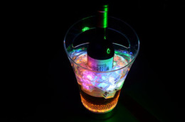 Wholesale Luminous Ice Bucket - 2013 magic fell not broken LED colorful luminous ice bucket with remote control