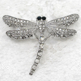 Wholesale Clear Rhinestone Crystal Dragonfly Brooch - Wholesale C497 A Clear Crystal Rhinestone Dragonfly Pin Brooch Fashion costume brooches jewelry gift