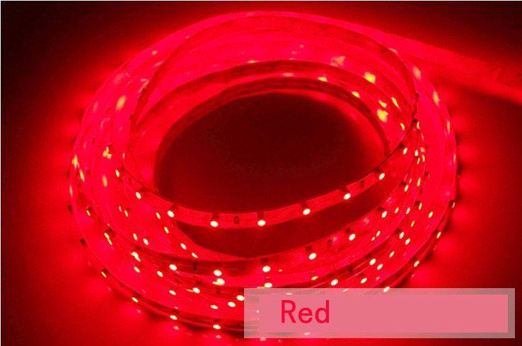 5M 3528 SMD LED Strip Lights Cool White 300 LED-lampor Non Vattentät 500cm 60LEDS M Varm vit bule röd grön för sovrum / vardagsrum / matsal