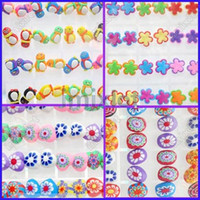 Wholesale Polymer Shapes - New Fashion Earring Polymer Clay Heart Flower Penguin Oval Shape 72pairs lot Stud Earring [E90-93 M*