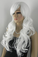 Wholesale Cosplay Lolita Wigs White - Lolita mixed party cosplay curly wavy fashion wig woman bang fringe long straight.WTY-008