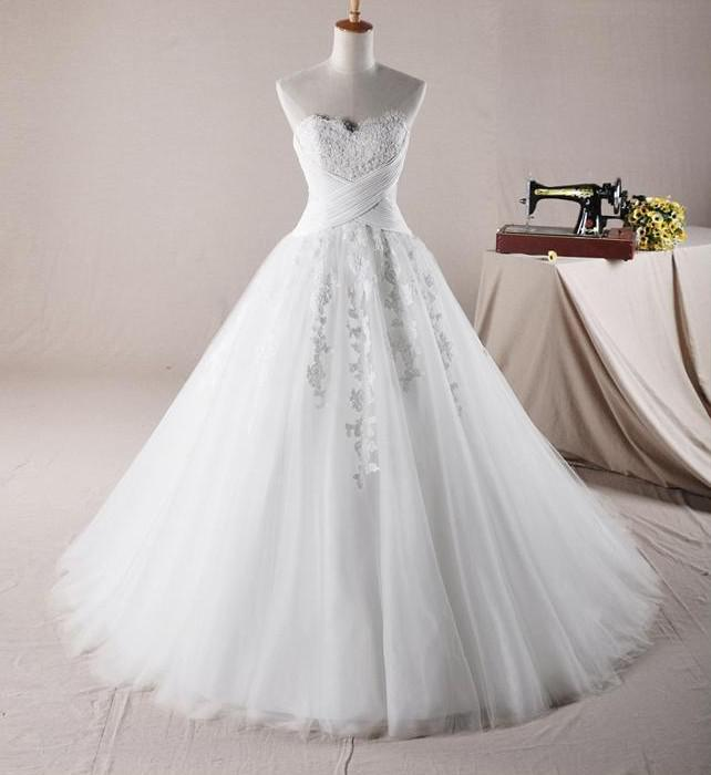 Wedding Ball Gowns Sweetheart Neckline: Sweetheart Neckline Ball Gown Bridal Gown Corset And Tulle