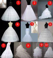vestidos de novia enaguas al por mayor-2019 Barato nupcial Petticoat vestidos de boda Underskirt para mujeres vestidos formales venta caliente sirena / vestido de bola envío gratis