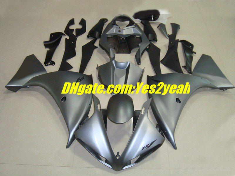 Injectie Mold Backings Set voor 2009 2010 2011 Yamaha YZF-R1 YZF R1 YZFR1 1000 09 10 11 Grijs Black Fairing Kit