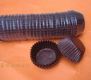 Öppet storlek 8cm brödkoppar brunt papper cupcake muffin choklad bakning liners