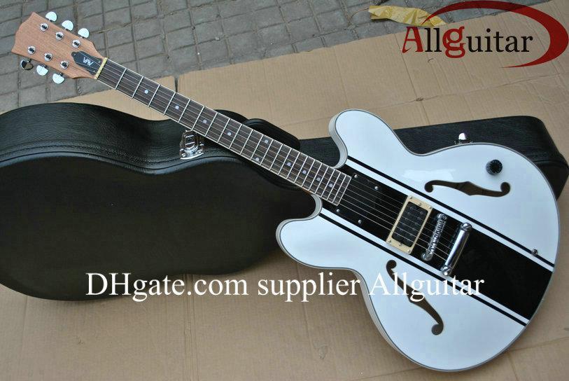 white tom delonge signature semi hollow electirc guitar electric guitar parts electric guitar. Black Bedroom Furniture Sets. Home Design Ideas