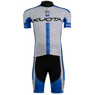 ingrosso giro in bicicletta quota 3 x 4xl-2013 KUOTA TEAM BLUEWHITE CYCLING WEAR MANICA CORTA CICLISMO JERSEY + SHORT SET TAGLIA: XS-4XL K021