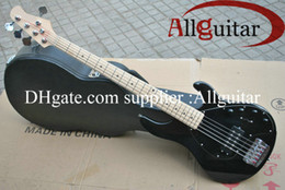 Wholesale Stingray String - 2013 New Style 5 strings music stingRay black electric bass with 9 V Battery active pickups bass