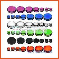 Wholesale Mixed Flesh Tunnel Sale - Free Shipping hot sale Ear Flesh Tunnel Silicone Ear Plug Tunnel Ear Taper 100pcs per lot Mixed Size