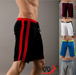 Wholesale Runners Knee - thermal Jog Runner slacks quick-drying Men's shorts casual sports gym running Male beach boardshorts loose basketball Active Middle pant