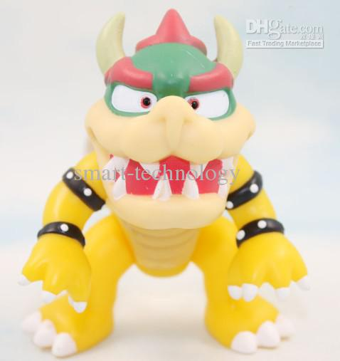 """10pcs BOWSER Action Figure PVC figure Doll Toys Super Mario Figures 4.3"""" doll toys Free Shipping"""