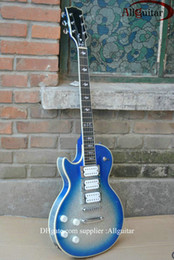 Wholesale Ace Frehley Left Handed - left handed Ace frehley signature ebony fingerboard blue silver electric guitar