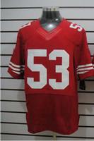 Wholesale american football jerseys wholesale - 2012 Elite American Football 53 Red Jerseys Rugby Jersey Mix Order