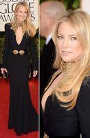 Wholesale Kate Hudson Black Long Dress - Kate Hudson 70th Annual Golden Globe Awards 2014 Long Sleeves Sexy Black Evening Celebrity Dresses