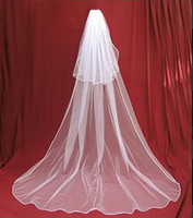 Wholesale Ivory 2t Veil Comb - New 2T white wedding bridal veil with comb Free shipping IN STOCK Free Shipping Hot Sale