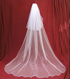 Wholesale New Veils - New 2T white wedding bridal veil with comb Free shipping IN STOCK Free Shipping Hot Sale