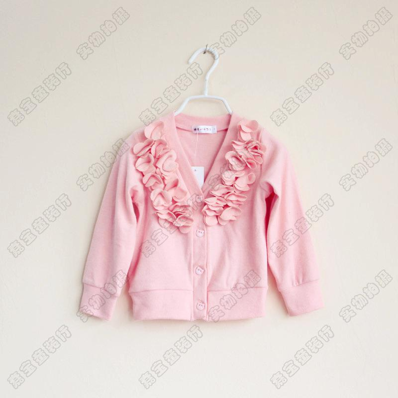 Baby Girl Kids Crochet Cardigan Sweaters Flower Floral Crocheted ...