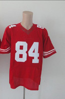 rugby jersey elite venda por atacado-2012 Elite Futebol Americano 84 Camisolas Vermelhas Rugby Jersey Mix Ordem Barato